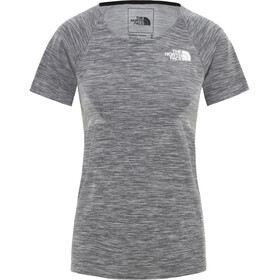 The North Face Impendor Seamless Tee Women, tnf black white heather/tnf white